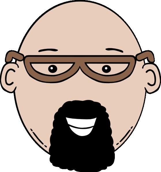 Cartoon man face