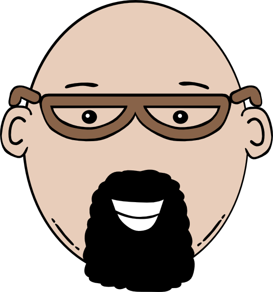 man face cartoon clip art at clker com vector clip art online  royalty free   public domain Bald Man with Beard bald man with beard clipart