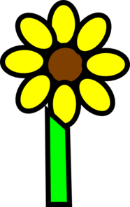Sunflower With Stem Clip Art
