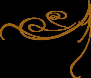 Decorative Swirl Gold Clip Art at Clker.com - vector clip ...