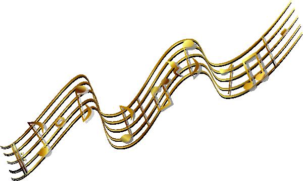 Gold Music Banner Clip Art at Clker.com - vector clip art ...