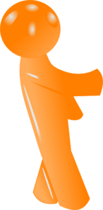 3d Orange Man Clip Art