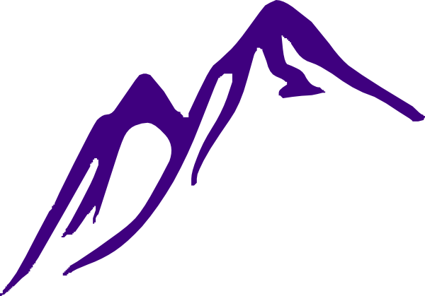Purple Mountain Clip Art at Clker.com - vector clip art ...