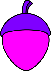 Pink Acorn With Purple Cap Clip Art