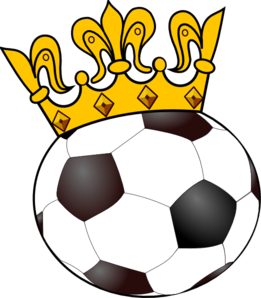 Soccer Ball With Crown Clip Art