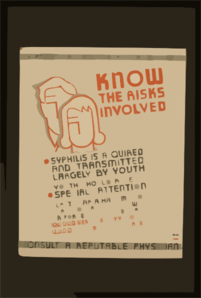 Know The Risks Involved Syphilis Is Acquired And Transmitted Largely By Youth : Youth Should Receive Special Attention : Consult A Reputable Physician. Clip Art