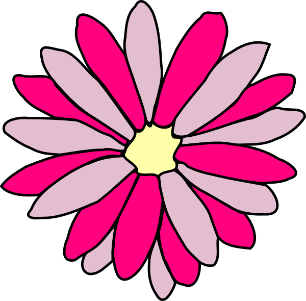 Pink Daisy Flower Clip Art at Clker.com - vector clip art ...
