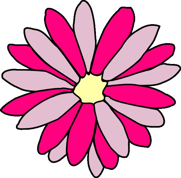 Pink Daisy Flower Clip Art at Clker.com - vector clip art ...