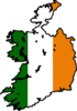 Ireland Flag Map Clip Art