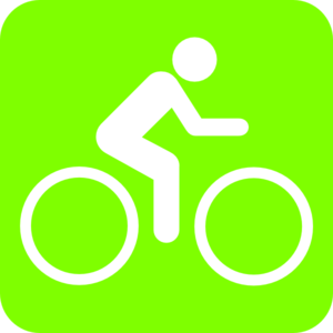 Bike Green  Clip Art