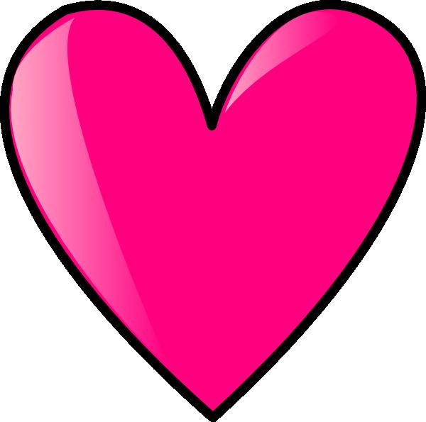 Hot Pink Heart Clip Art at Clker.com - vector clip art ...
