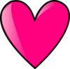 Hot Pink Heart Clip Art