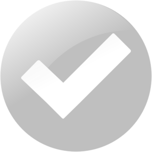 Simple Grey Check Button Clip Art