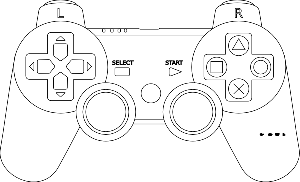 Vector Drawing Lines Xbox One : Playstation controller clip art at clker vector