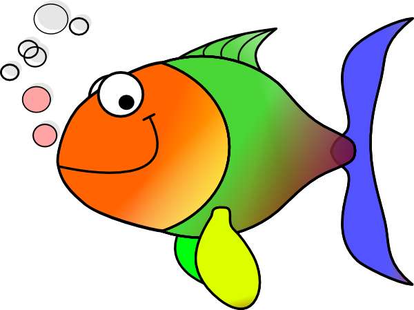 fish clip art for kids. Comic Fish clip art