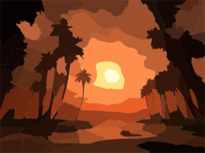 Sunset Beach Clip Art