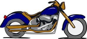 Harley Mc Gold And Blue Clip Art