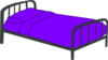 Purple Bed Clip Art