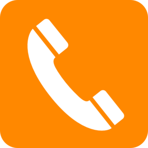 Phone Orange Clip Art