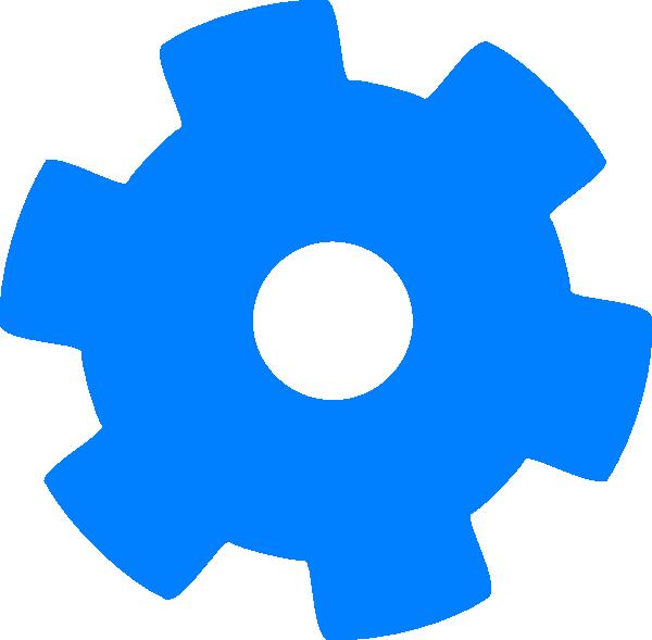 Blue Cog 1 Clip Art at Clker.com - vector clip art online ...