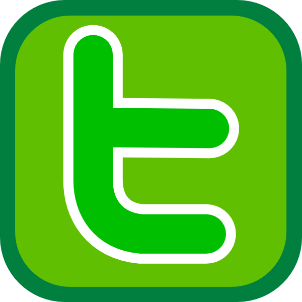 Twitter green. Simple icon clip art