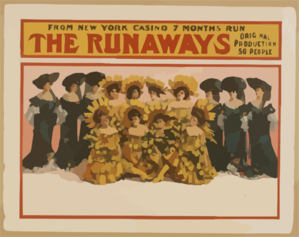 The Runaways From New York Casino, 7 Months Run : Original Production, 50 People. Clip Art