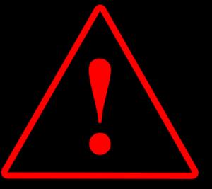 red black red warning 1 clip art at clkercom vector