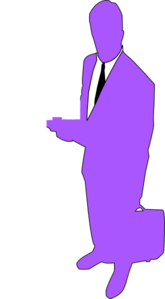 Man With Outline Clip Art