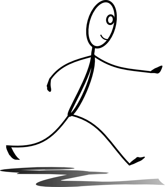 Stickman Running Clip Art at Clker.com - vector clip art ...