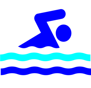 Swim Party Logo Clip Art
