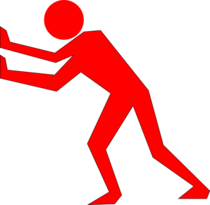 Red-man-pushing-back Clip Art