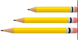 Pencils In Various Lengths Clip Art