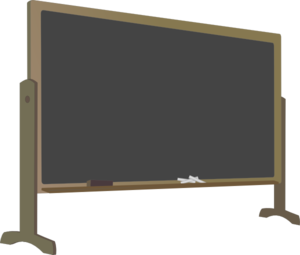 Blackboard With Stand Clip Art