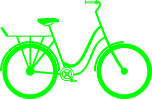 Green Bike Clip Art