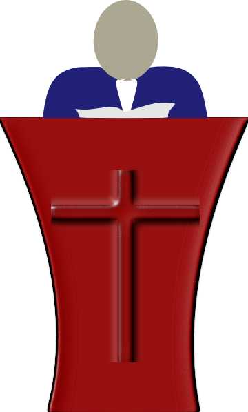 Preaching Clipart Sermon clip art - vector clip