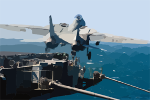 An F-14b Tomcat Assigned To The Red Rippers Of Fighter Squadron One One (vf-11) Launches Off The Bow Of Uss George Washington (cvn 73) For A Training Mission. Clip Art