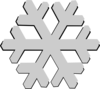 Snow Flake Grey Clip Art