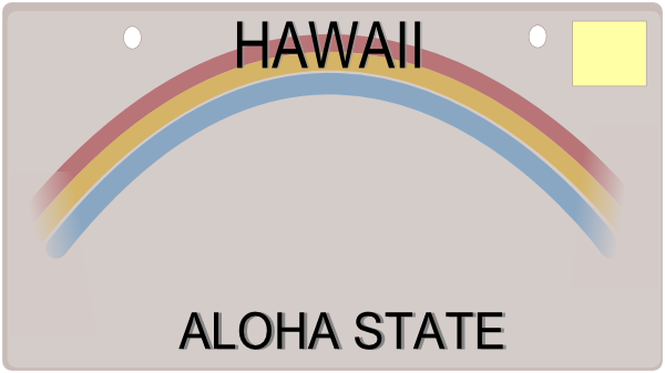 hawaiian license plate template clip art at clker com vector clip