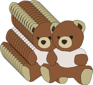 Multiple Bear  Clip Art