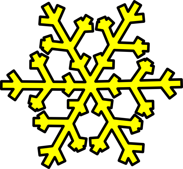 Yellow Snowflake Clip Art at Clker.com - vector clip art ...