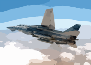 An F-14a  Tomcat  Assigned To The  Checkmates  Of Fighter Squadron Two One One (vf-211) Prepares To Make A Bombing Run. Clip Art
