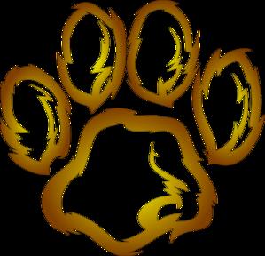 Lions Paw Print Clip Art at Clker.com - vector clip art online ...