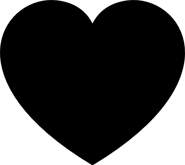Solid Black Heart Clip Art at Clker.com - vector clip art ...