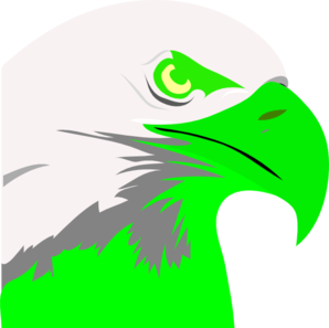 Florescent Green Eagle Clip Art