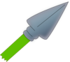 Green Spear Clip Art