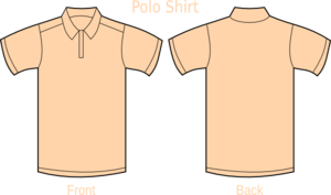 Polo Shirt Beige Clip Art