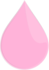 Pink Drop Highlight Clip Art