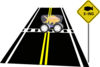 Fish Crossing Traffic Sign Clip Art
