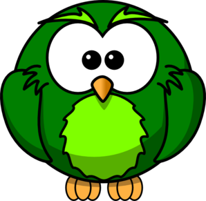 Khaki And Lime Hoot  Clip Art