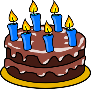 6 Years Birthday Cake Clip Art